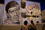 Il murale dedicato da CHEKOS'ART (a nome della città) a Carmelo Bene